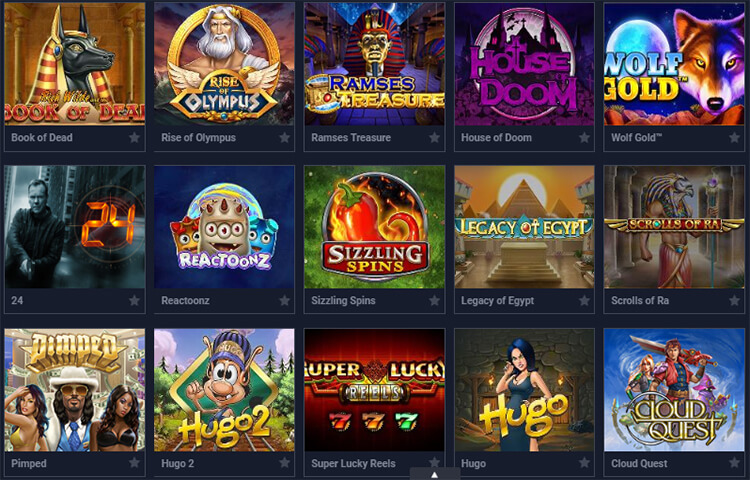 EvoBet Casino Software and Game Selection