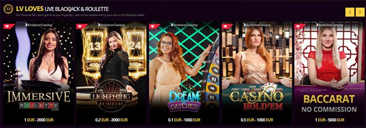LVBet Live Dealer Games