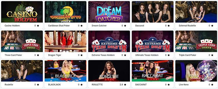 SvenBet Live Dealer Games