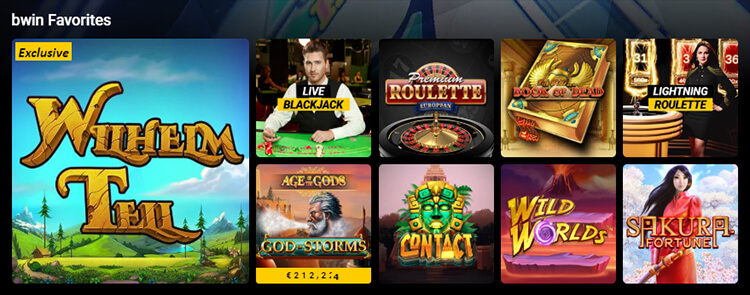 BWin Casino Software and Game Selection