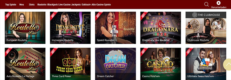 CasinoClub Live Dealer Games