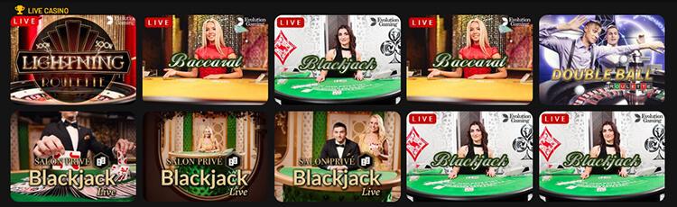 MoboCasino Live Dealer Games