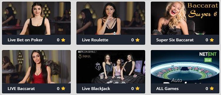 VBet Casino Live Dealer Games