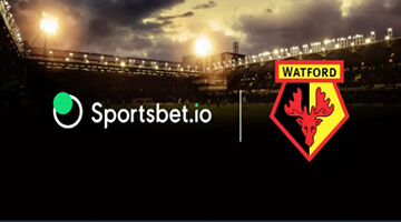 Sportsbet.io is new Watford's shirt sponsor