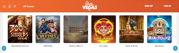 Slotty Vegas Games and Software