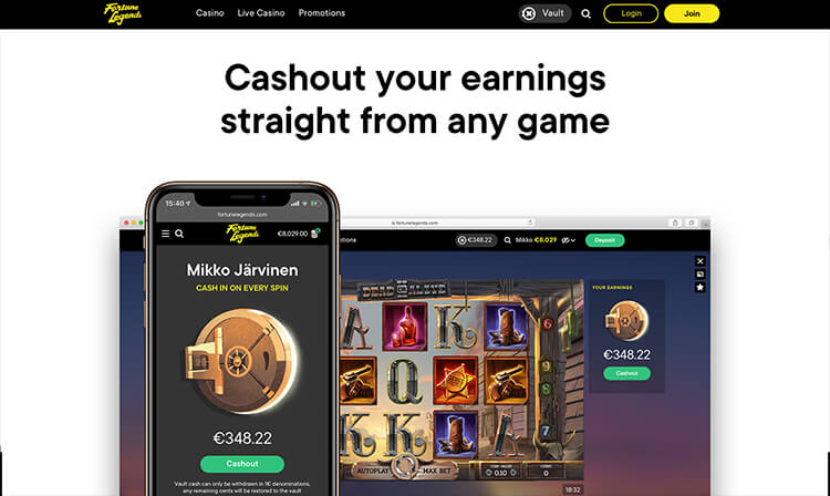 Fortune Legends Casino Vault Feature