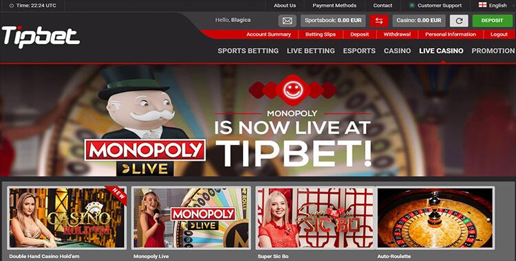 Tipbet Casino Live Dealer Games