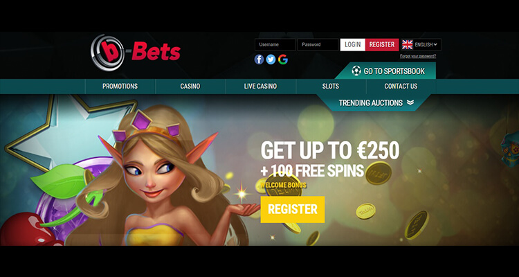 b-Bets Casino Homepage