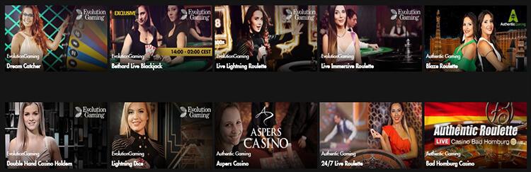 Bethard Casino Live Dealer Games