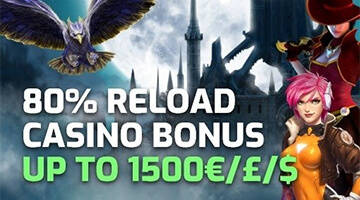 Claim up to €1,500 reload Bonus 4x per Week at Evobet Casino