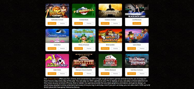 Casino.com Game Selection
