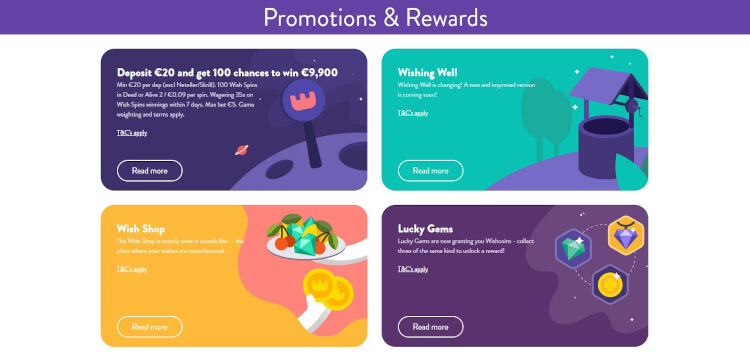 Wishmaker Casino Promotions & Rewards