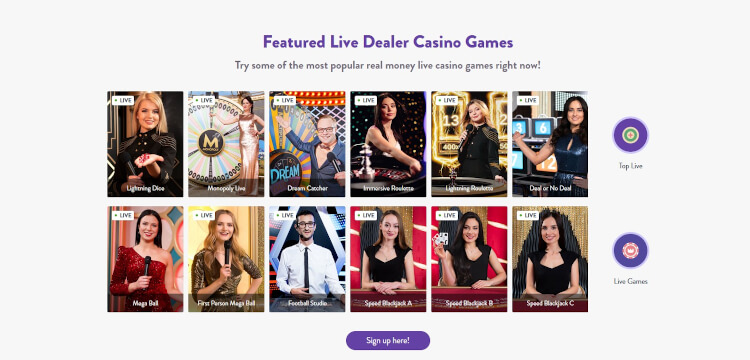 Wishmaker Casino Live Dealer Games