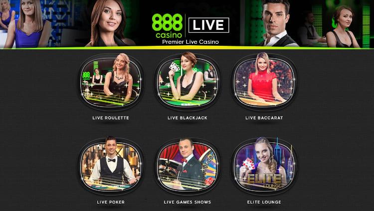888 Casino Live Dealer Games