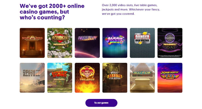 Casumo Software and Game Selection
