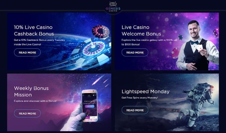 Genesis Casino Promotions Selection