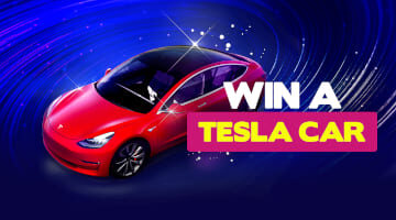 Win a Tesla 3 promotion at Bitstarz