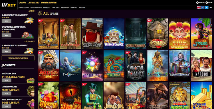 LV Bet Software and Game Selection