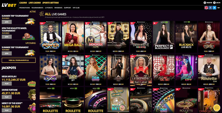 LV Bet Live Dealer Games