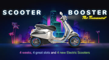 Win new Piaggio Vespa in Scooter Booster promo from PlayOJO Casino this August