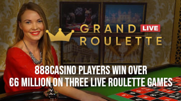 888casino Players Win over €6 Million on Three Live Roulette Games