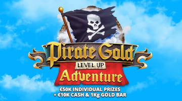 Win a 1kg Gold Bar with Bitstarz Pirate Gold Level up Adventure