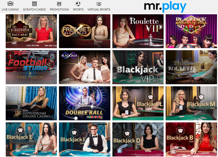 Great Live Casino at Mr.Play