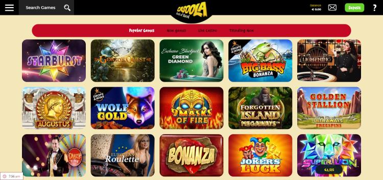 Casoola Casino Games