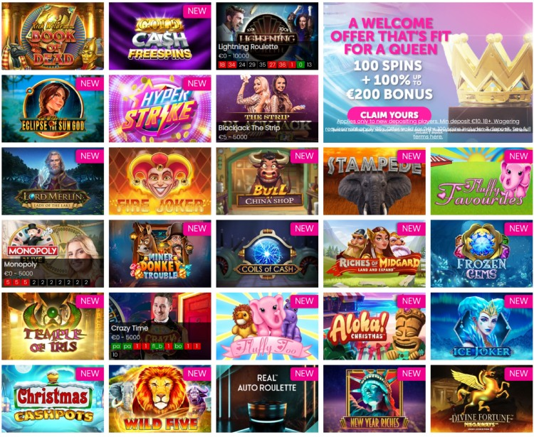 Queen Play Online Casino Games 2021