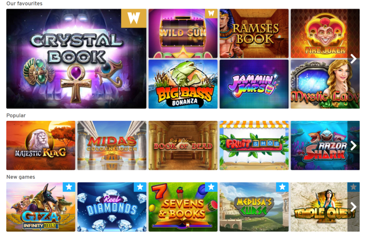 Wunderino Casino Games