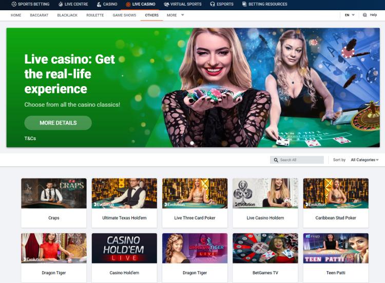 Pinnacle Casino Live Casino