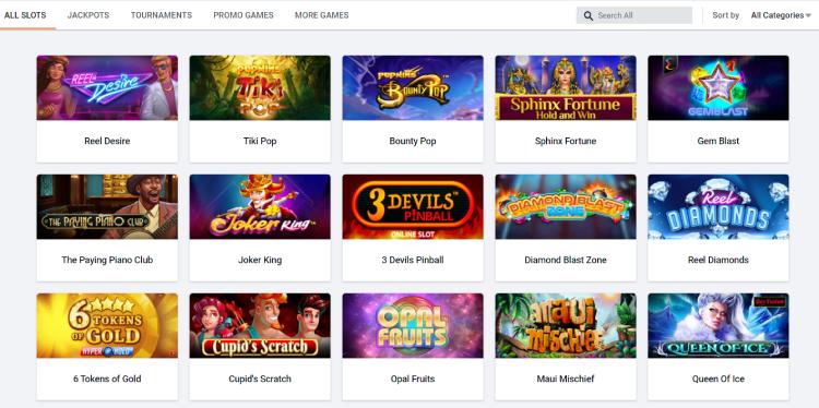 Pinnacle Online Casino Slots