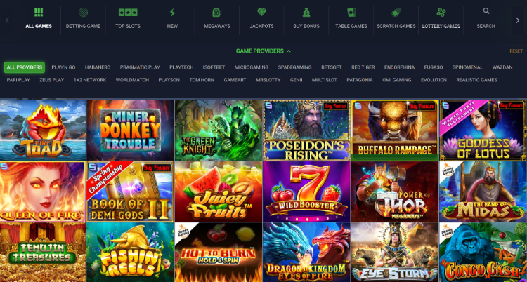 Evobet Casino Slots and Games