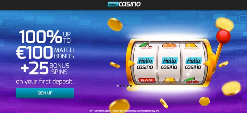 Nice Welcome Bonus at Hello Casino