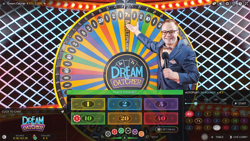 The Dream Catcher Betting Grid